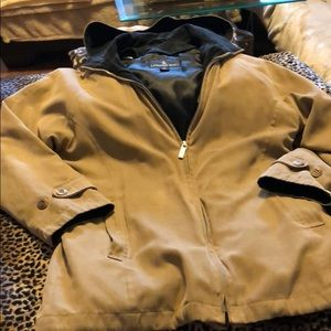 London Fig ran hooded lined jacket size 8